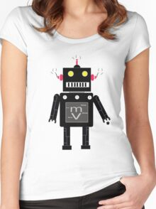 M-Bot 2.0 Women's Fitted Scoop T-Shirt
