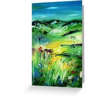 Abstract irish landscape  Greeting Card
