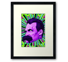 Nietzsche Burst 6 - by Rev. Shakes Framed Print