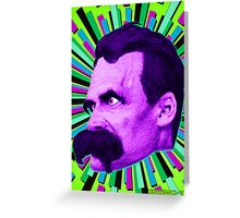 Nietzsche Burst 6 - by Rev. Shakes Greeting Card