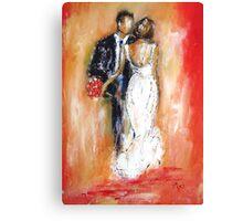 Wedding couple bride and groom  Canvas Print