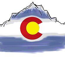 Colorado flag artistic mountain scene by artisticattitud