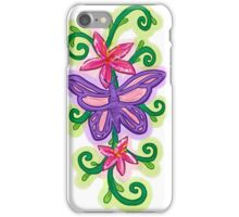 Artistic colorful purple butterfly design iPhone Case/Skin
