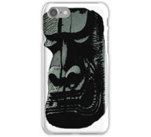 Funny dark tiki Hawaii statue iPhone Case/Skin