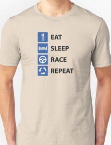 Eat Sleep Race Repeat Unisex T-Shirt