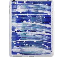 Blue white paint streaks artistic case iPad Case/Skin