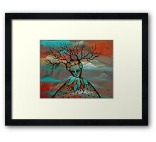 Original Art by Angieclementine - Mother Earth Framed Print