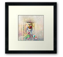 Arcadian Lady At The Claw Framed Print