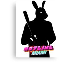 Hotline Miami Graham Silhouette  Canvas Print
