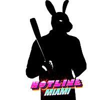 Hotline Miami Graham Silhouette  Photographic Print
