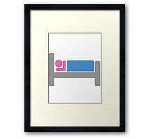 Bed Framed Print