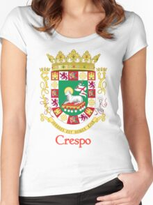 Crespo Shield of Puerto Rico Women's Fitted Scoop T-Shirt