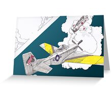Dogfight redux Greeting Card