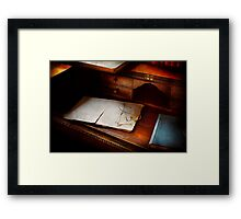 Optometrist - Done for the night Framed Print