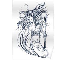 Plain mermaid Poster