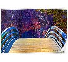 First Day of Spring on a Bridge Poster