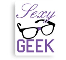 Sexy Geek Canvas Print