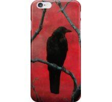 Blackbird In The Red iPhone Case/Skin