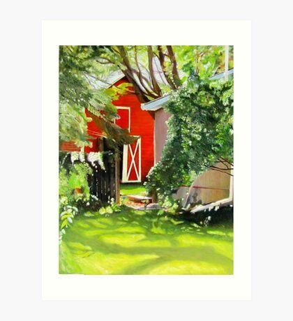 Marilyn's Yard, Tweed, Ontario Art Print