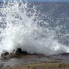 Big wave splashing shore by Susanna Hietanen