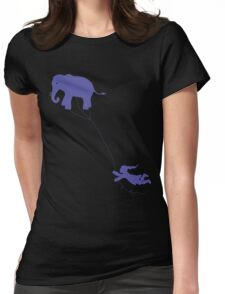 Elephant Kite Womens Fitted T-Shirt