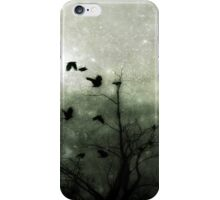 Celestial Night of the crows iPhone Case/Skin