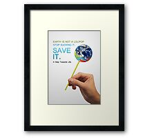 Save Earth Framed Print