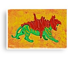 Fighting Tiger! Canvas Print
