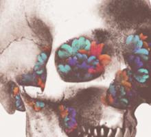 Skull and flowers Sticker