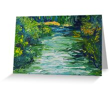 River Painting Oil on Canvas by Ekaterina Chernova Greeting Card