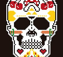 8-bit sugar skull by erreeme