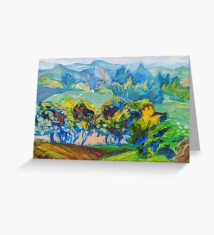 Summer Fields Original Oil Painting by Ekaterina Chernova Greeting Card