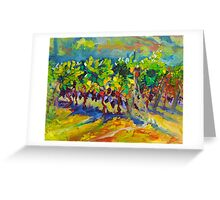 Vineyard Harvest Oil Painting Ekaterina Chernova Greeting Card