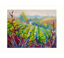 Vineyard Scene Oil Painting by Ekaterina Chernova Art Print