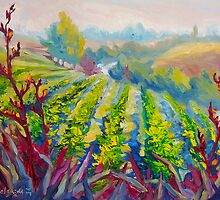 Vineyard Scene Oil Painting by Ekaterina Chernova by Ekaterina Chernova
