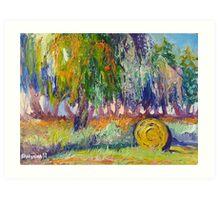 Country Painting Oil on Canvas, Ekaterina Chernova Art Print