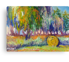Country Painting Oil on Canvas, Ekaterina Chernova Canvas Print