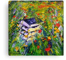 Poppy Field Fine Art Oil Painting by Ekaterina Chernova Canvas Print