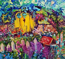 Hobbit Hole Original Oil Painting Ekaterina Chernova by Ekaterina Chernova