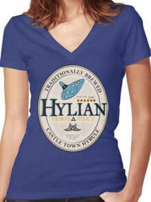 Hylian Hero's Stout Women's Fitted V-Neck T-Shirt