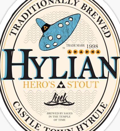 Hylian Hero's Stout Sticker