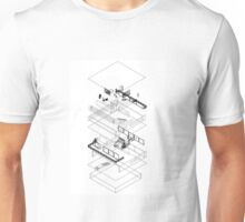 Architectural Exploded Line Graphic Unisex T-Shirt