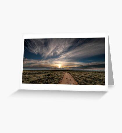 Hay Plains Greeting Card