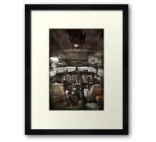 Pilot - Boeing 707  - Cockpit - We need a pilot or two Framed Print