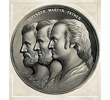 Defender, Martyr, Father -- Grant, Lincoln, And Washington Photographic Print