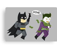 Batman in an image Canvas Print