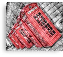 Red London Phone Box Canvas Print