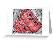 Red London Phone Box Greeting Card