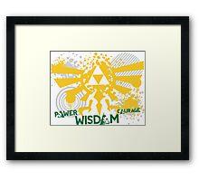 Power, Wisdom, Courage Street Art Framed Print