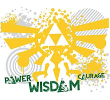 Power, Wisdom, Courage Street Art Photographic Print